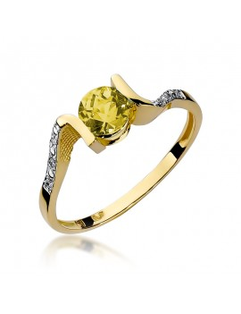Złoty Pierścionek Cytryn...