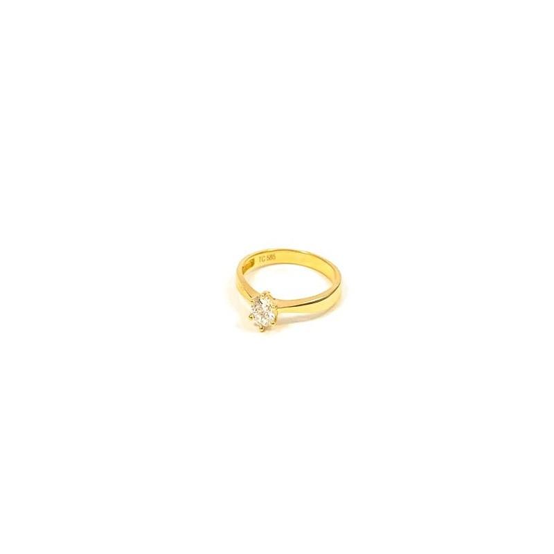 Złoty PIĘKNY ZARĘCZYNOWY Pierścionek pr585 r12