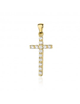 Złoty Krzyżyk Z Brylantami