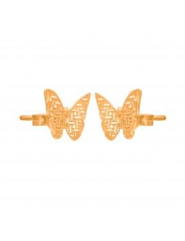 Złote Kolczyki Sztyfty Motylki