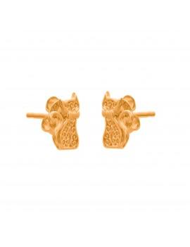 Złote Kolczyki Sztyfty Kotek