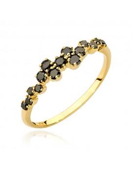 Złoty Pierścionek Czarne...