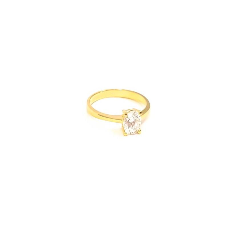Złoty KLASYCZNY Pierścionek ZARĘCZYNOWY pr585 r15