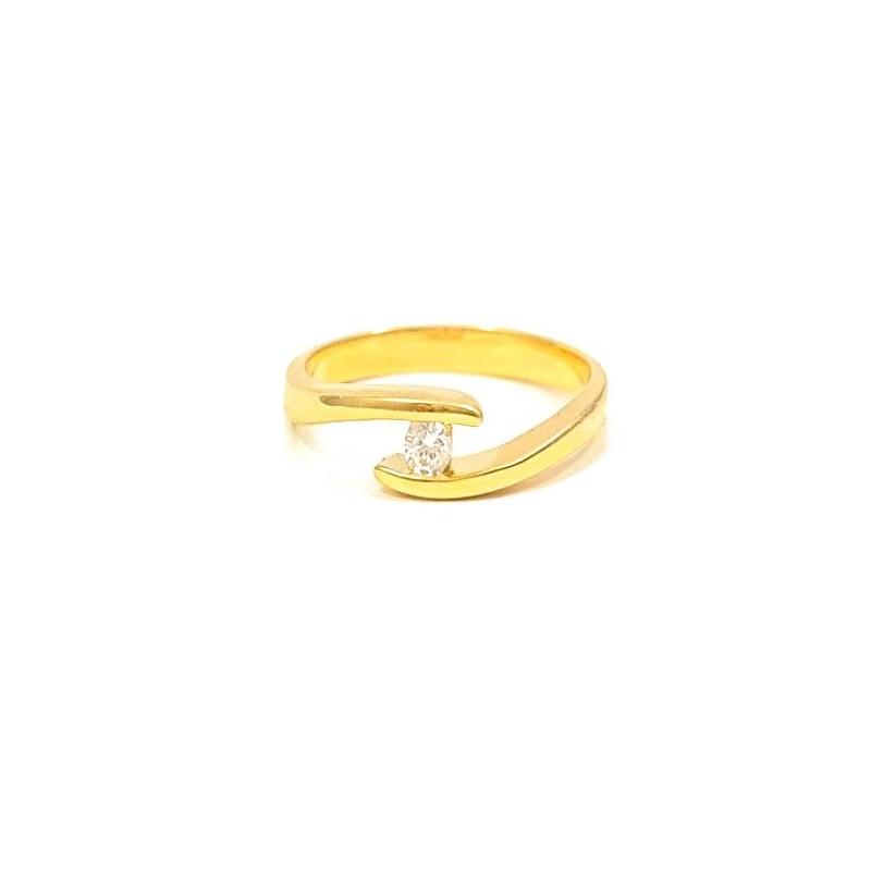 Złoty Pierścionek KLASYK 585 IDEALNE ZARĘCZYNY r14