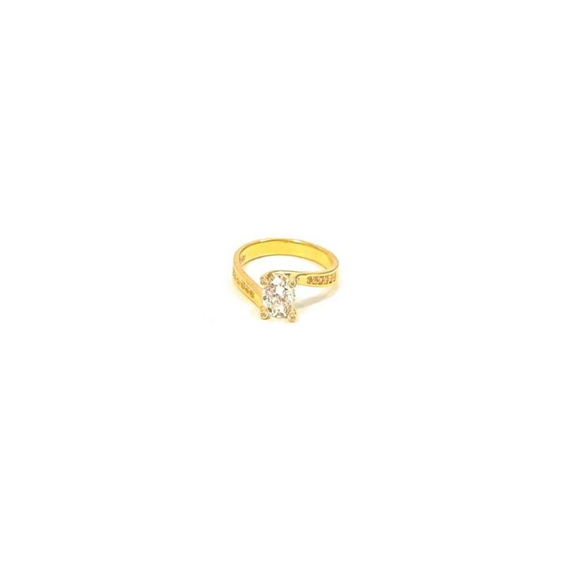 Złoty Pierścionek pr585 IDEALNE ZARĘCZYNY r16
