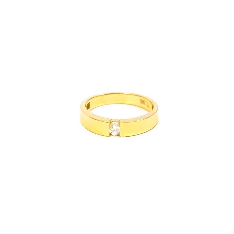 Złoty Pierścionek pr585 KLASYK na ZARĘCZYNY r12 (