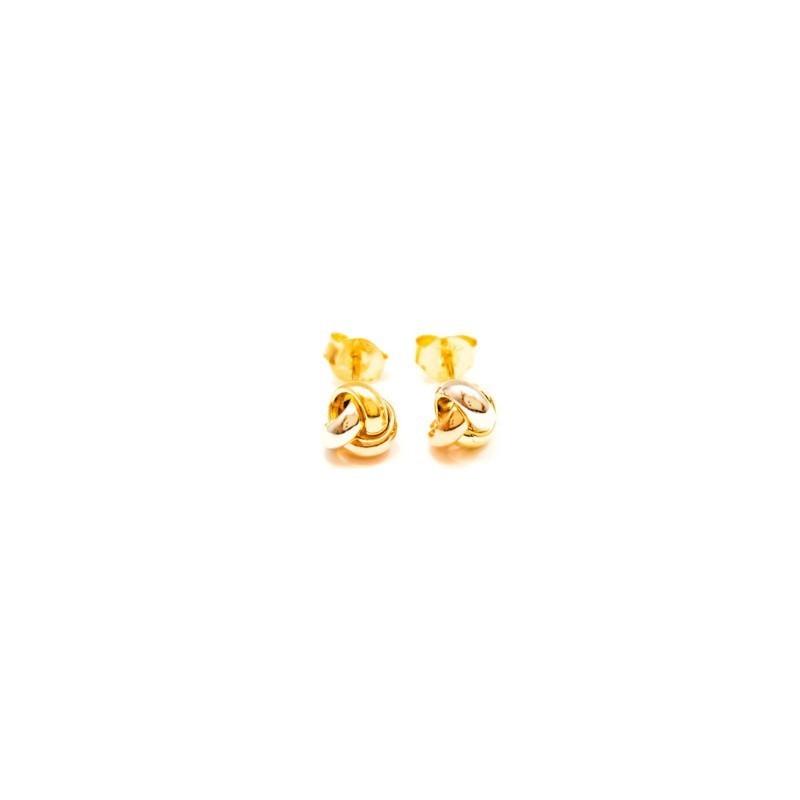 Złote MODNE Kolczyki Sztyft pr585 PIĘKNE 7x7
