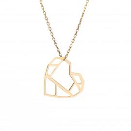 Złoty Naszyjnik Serce Origami