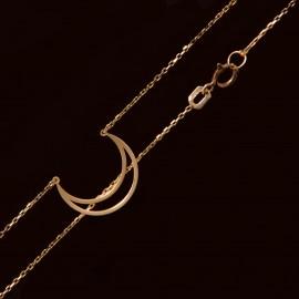 Złoty Naszyjnik Celebrytka Księżyc