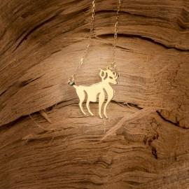 Złoty Naszyjnik Znak Zodiaku Baran