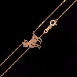 Złoty Naszyjnik Celebrytka Znak Zodiaku Baran