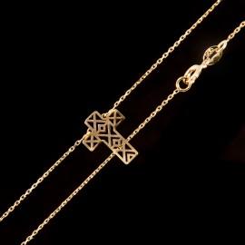 Złoty Naszyjnik Krzyżyk