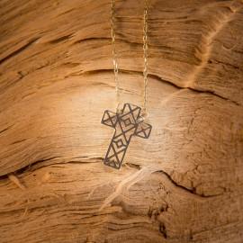 Złoty Naszyjnik Celebrytka Krzyżyk