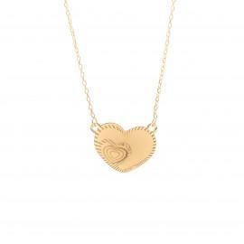 Złoty Naszyjnik Serce w Sercu