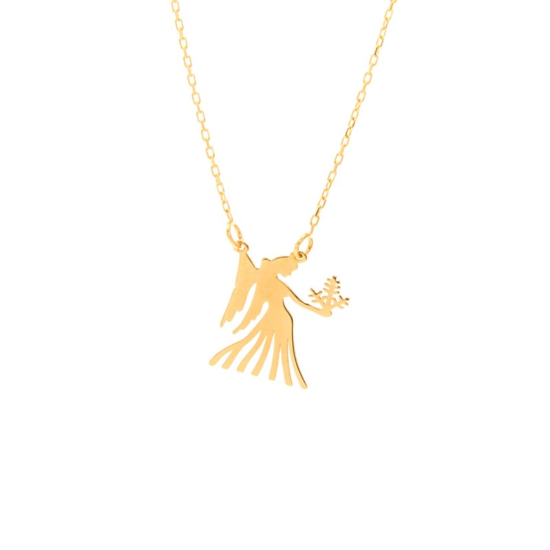 Złoty Naszyjnik Zodiak Panna