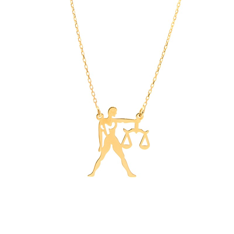 Złoty Naszyjnik Zodiak Waga