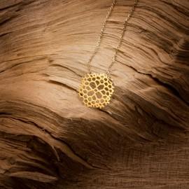 Złoty Naszyjnik Ażurowy Płatek