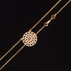 Złoty Naszyjnik Celebrytka Ażurowe Serca