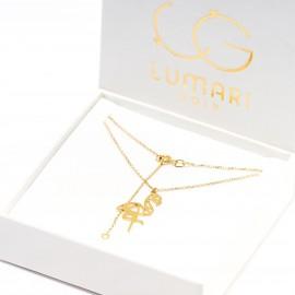 Złoty Naszyjnik Celebrytka Flaming Origami