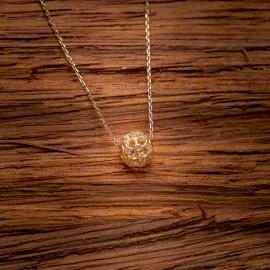 Złoty Naszyjnik Kółko Cyrkonie