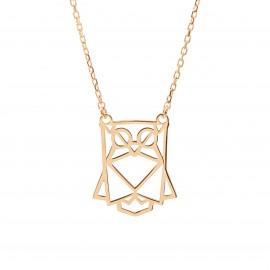 Złoty Naszyjnik Celebrytka Sowa Origami