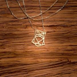 Złoty Naszyjnik Sowa Origami