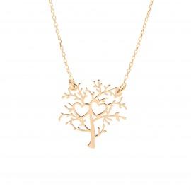 Złoty Naszyjnik Drzewo Życia