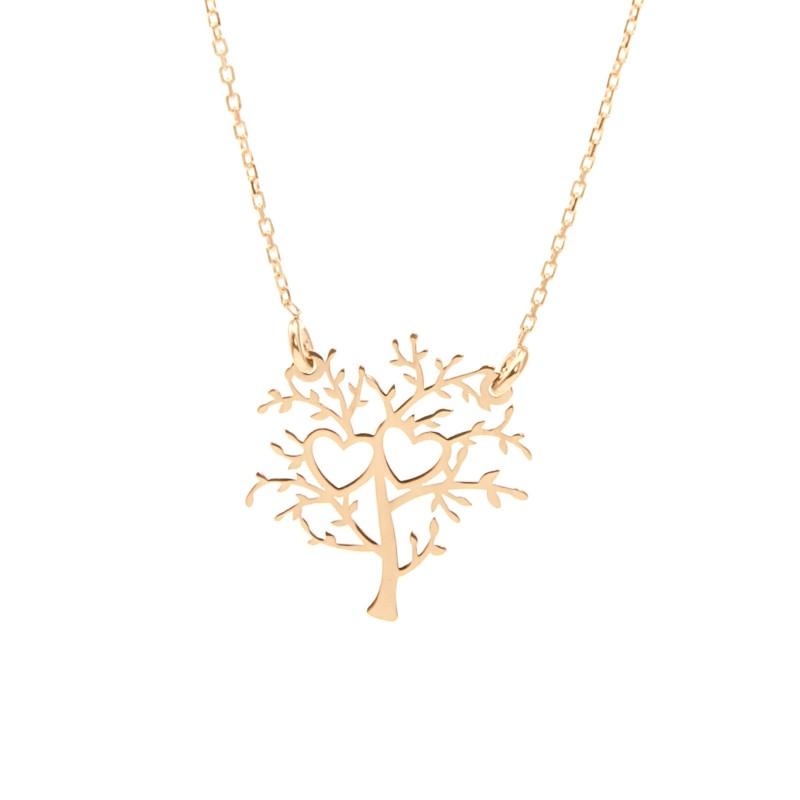 Złoty Naszyjnik Celebrytka Drzewo Życia