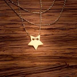 Złoty Naszyjnik Klasyczna Gwiazdka