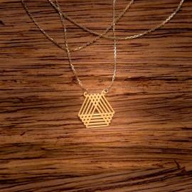 Złoty Naszyjnik Geometryczne Trójkąty
