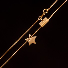 Złoty Naszyjnik Celebrytka Modna Gwiazdka