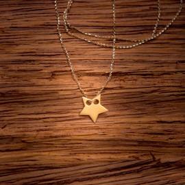 Złoty Naszyjnik Modna Gwiazdka