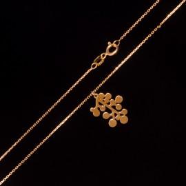 Złoty Naszyjnik Celebrytka Wzór Molekularny