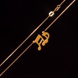 Złoty Naszyjnik Celebrytka Pełne Nuty Muzyczne