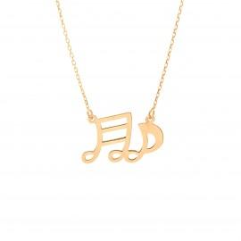 Złoty Naszyjnik Nutki Muzyczne