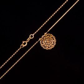 Złoty Naszyjnik Ażurowy Wzór