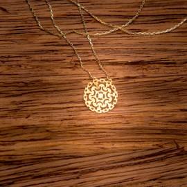 Złoty Naszyjnik Celebrytka Ażurowy Wzór