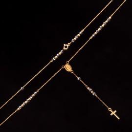 Złoty Naszyjnik Różaniec Grawer