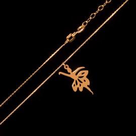 Złoty Naszyjnik Celebrytka Balerina
