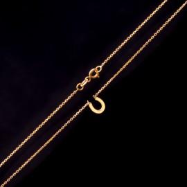 Złoty Naszyjnik Celebrytka Podkowa Grawer