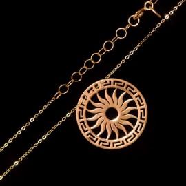 Złoty Naszyjnik Celebrytka Słońce