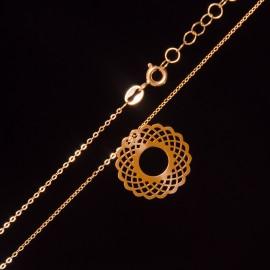 Złoty Naszyjnik Celebrytka Ażurowe Koło