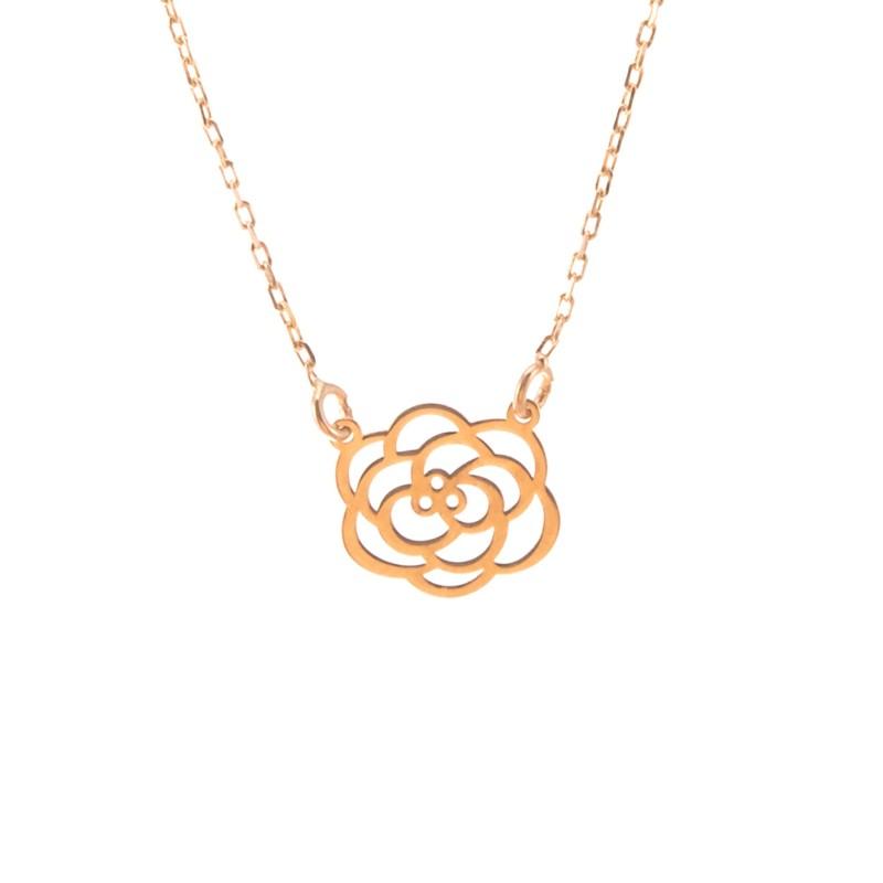 Złoty Naszyjnik Ażurowy Kwiatek