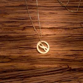 Złoty Naszyjnik Kółko Nieskończoność