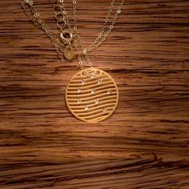 Złoty Naszyjnik Ażurowe Koło