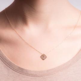 Złoty Naszyjnik Ażurowy Rombik