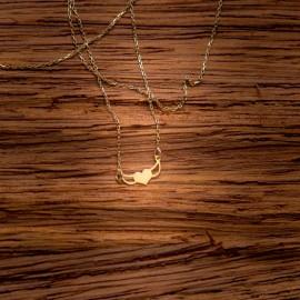 Złoty Naszyjnik Celebrytka Skrzydlate Serce