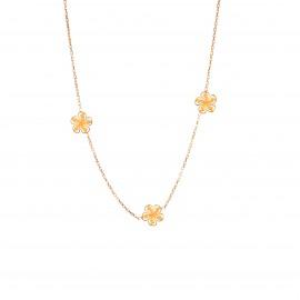 Złoty Naszyjnik Celebrytka Trzy Kwiatki