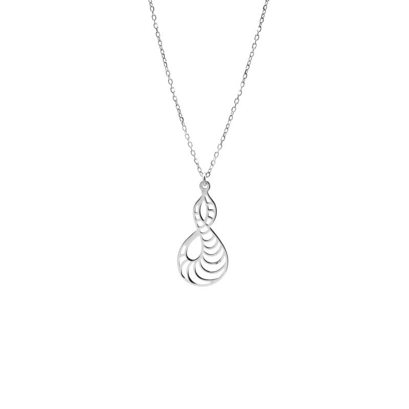 Srebrny Naszyjnik Ażurowa Ósemka