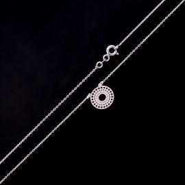 Srebrny Naszyjnik Ażurowe Kółko